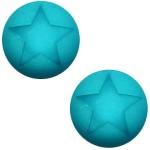 Cuoio Schuifsteen Star Deep Blue Zircon 20 mm