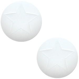 Cuoio Schuifsteen Star Bianco White 20 mm