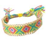 Ibiza-Beach Armband Jasseron Geel Groen Roze
