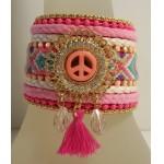 Gypsy Armband Peace Roze