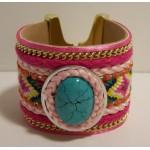 Gypsy Armband Turquoise Pink