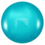 Cuoio Schuifsteen Shiny Deep Blue Zircon 12 mm