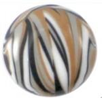 Cuoio Schuifsteen Zebra Bruin Wit Zwart 12 mm