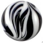 Cuoio Schuifsteen Zebra Zwart Wit 12 mm