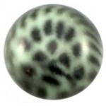 Cuoio Schuifsteen Leopard Crysolite Green 12 mm