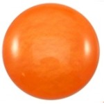 Cuoio Schuifsteen Mosso Shiny Hyacinth Orange 12 mm