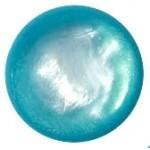 Cuoio Schuifsteen Pearl-Shine Indicolite Blue 12-mm