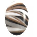 Cuoio Schuifsteen Ovaal Zebra ZBW 10 x 13 mm