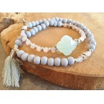 Wrap-armband Facet Mint Pink BlueFog
