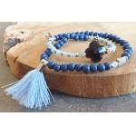 Wrap-armband Facet  Montana Blue Aquamarine