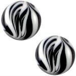 Cuoio Schuifsteen Zebra Zwart Wit 20 mm