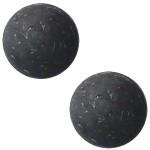 Cuoio Schuifsteen Flake Black 20 mm
