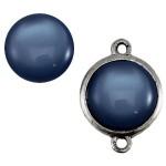 Cuoio Schuifsteen Shiny Denim Blue 20 mm