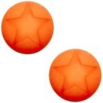Cuoio Schuifsteen Star Hyacint Oranje 20 mm