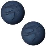 Cuoio Schuifsteen Denim Blue Vogel 20 mm