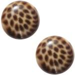 Cuoio Schuifsteen Leopard Brown 20 mm