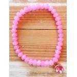 Facet-Armband Pink Rosé Goud
