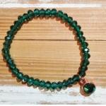 Facet-Armband Emerald Rosé Goud