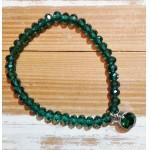 Facet-Armband Emerald Zilver