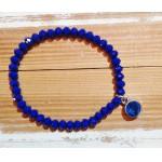 Facet-Armband Kobalt Blauw Zilver