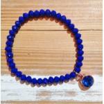 Facet-Armband Kobalt Blauw Rosé Goud