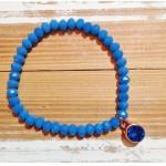 Facet-Armband Capri Blue Rosé Goud