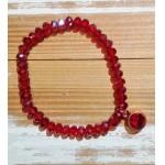 Facet-Armband Siam Rood Rosé Goud