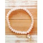 Facet-Armband Peach Rosé Goud