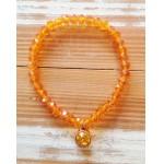Facet-Armband Oranje Rosé Goud