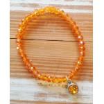 Facet-Armband Oranje Zilver