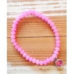 Facet-Armband Pink Zilver