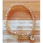 Facet-Armband Light Rose Diamond Zilver