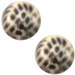 Cuoio Schuifsteen Leopard Light Peach 20 mm