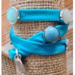 Wikkelarmband Ibiza Donker Turquoise