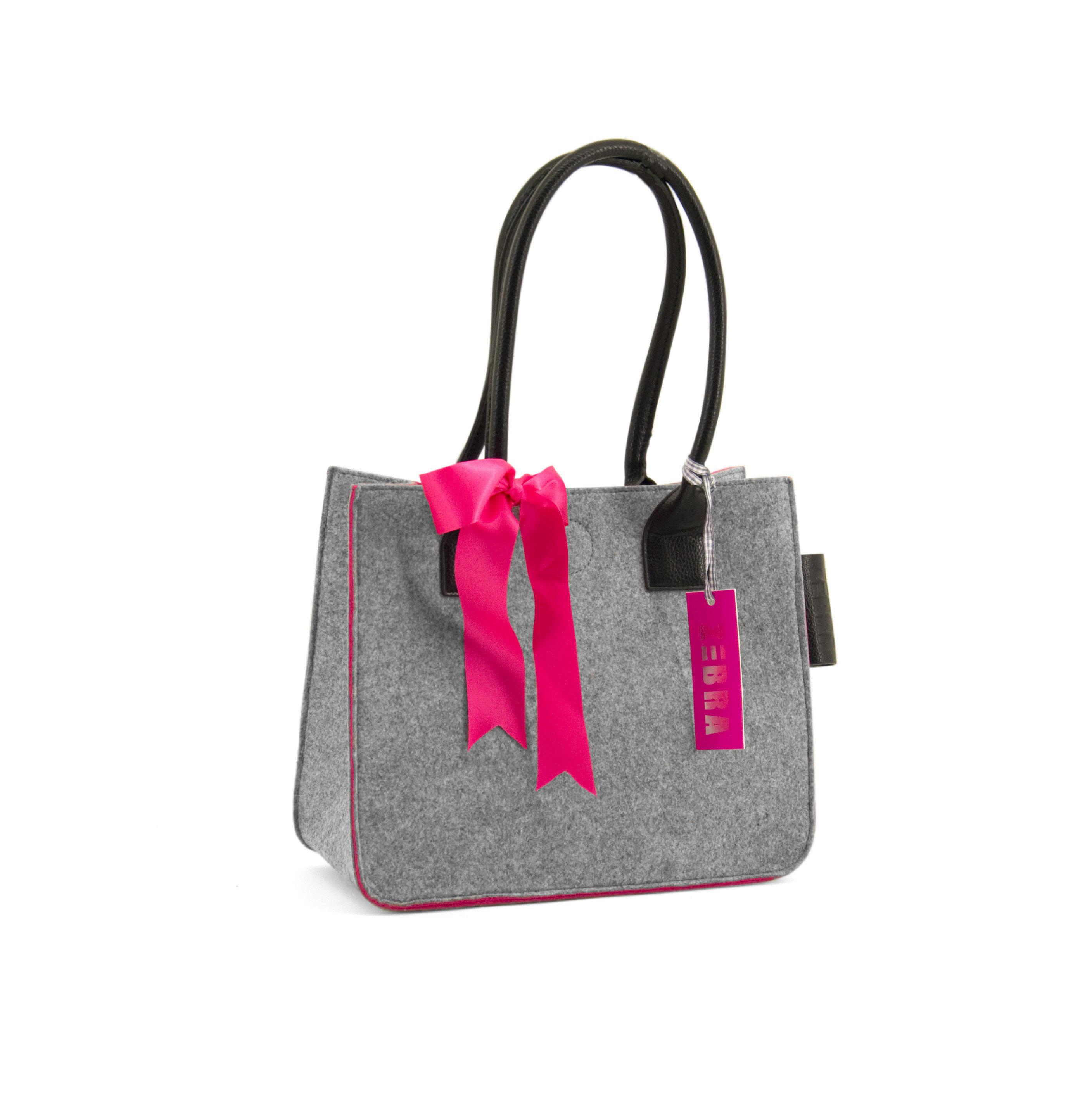 Zebra Trends Tassen Dames : Zebra trends dames natural bag vilt colors grijs jippiejey